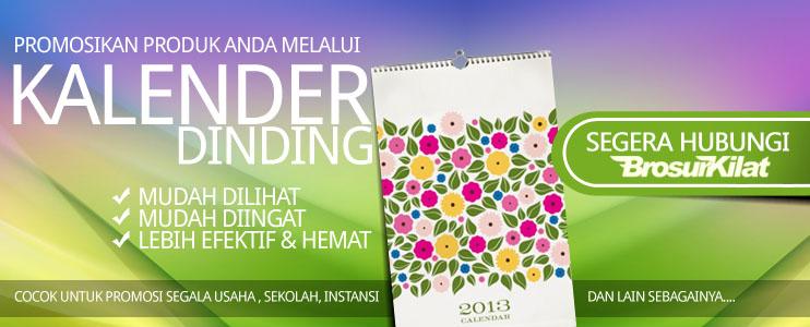 Daftar harga cetak kalender 2014