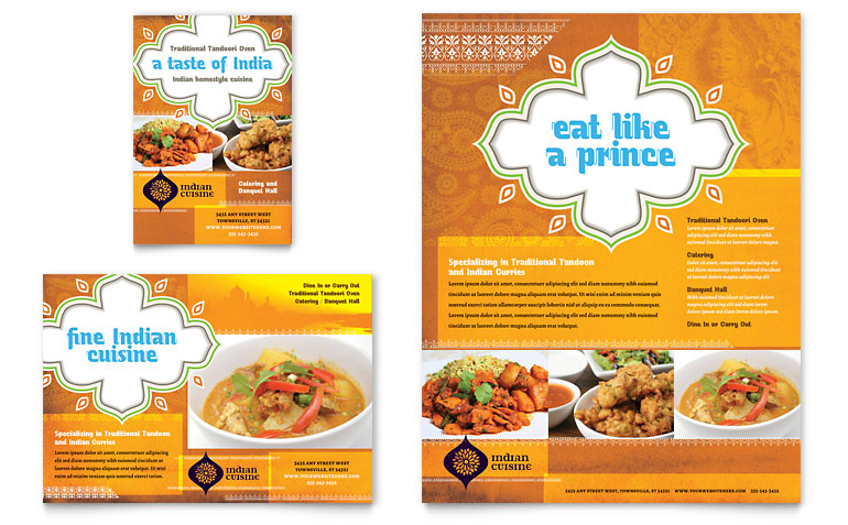 contoh brosur restoran makanan penggugah selera