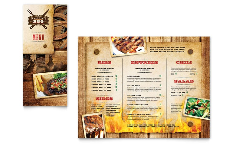 Contoh Brosur Restoran/ Makanan » Cetak Brosur Kilat
