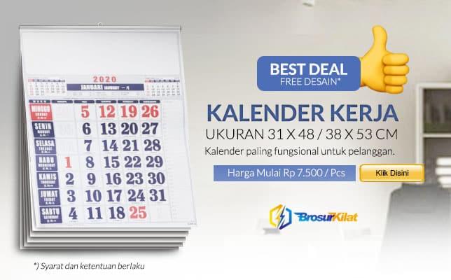 cetak kalender kerja murah