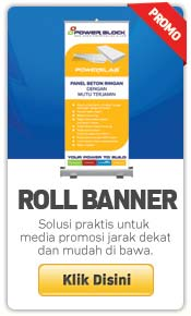 cetak roll up banner murah