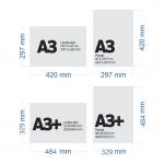 perbedaan ukuran A3 dan A3+